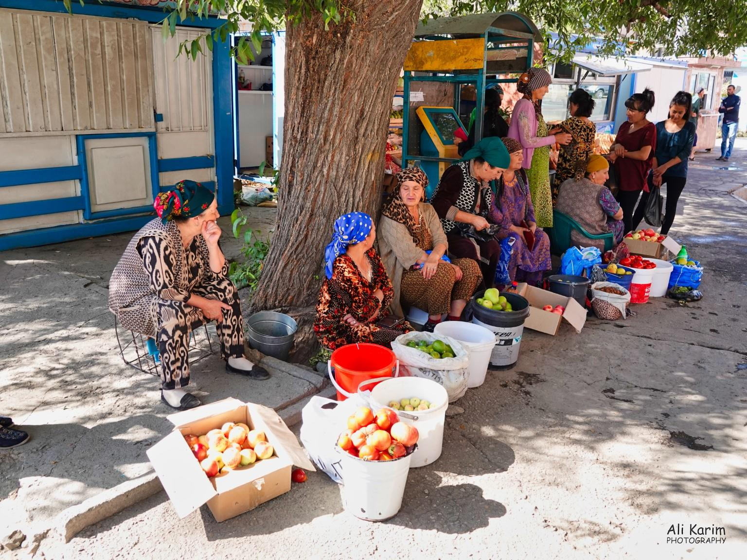 More Khorog, Tajikistan Ladies selling local fresh produce at the market