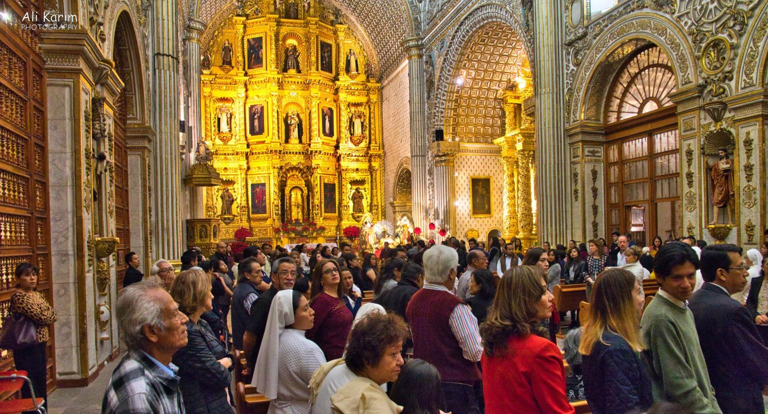 Oaxaca, Mexico We attended the 9PM Mass in the Oaxaca Cathedral on New Year's eve; it was busy. After Mass, everyone hugged and blessed each other, including us :)
