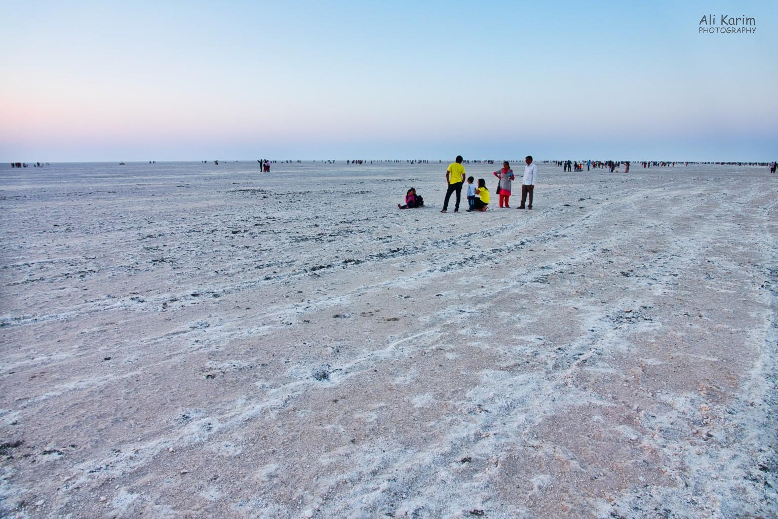 Bhuj, Kutch, Gujarat Vast salt flat, many tourists