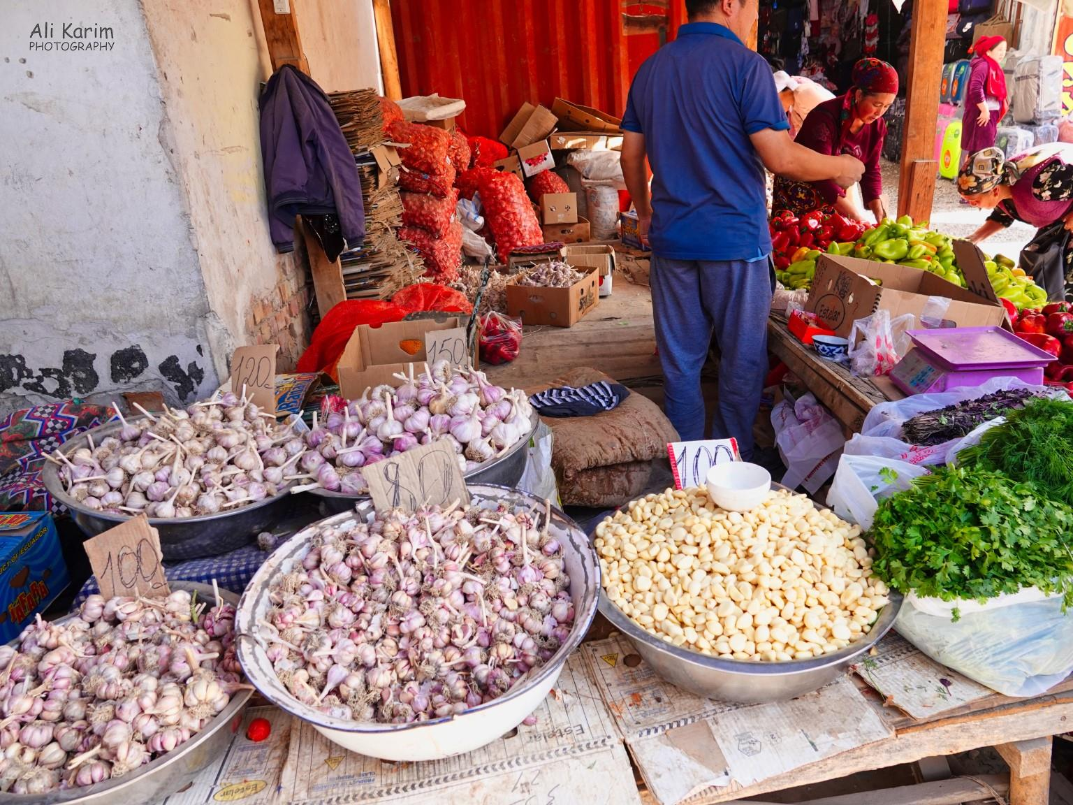 Silk Road 15: Osh, Kyrgyzstan Garlic of different kinds
