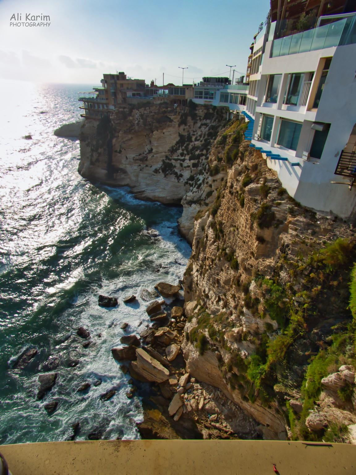 Many restaurants on the clifftops overlooking the Mediterranean near Raouche Rock; a little too close to the cliff edge for my comfort