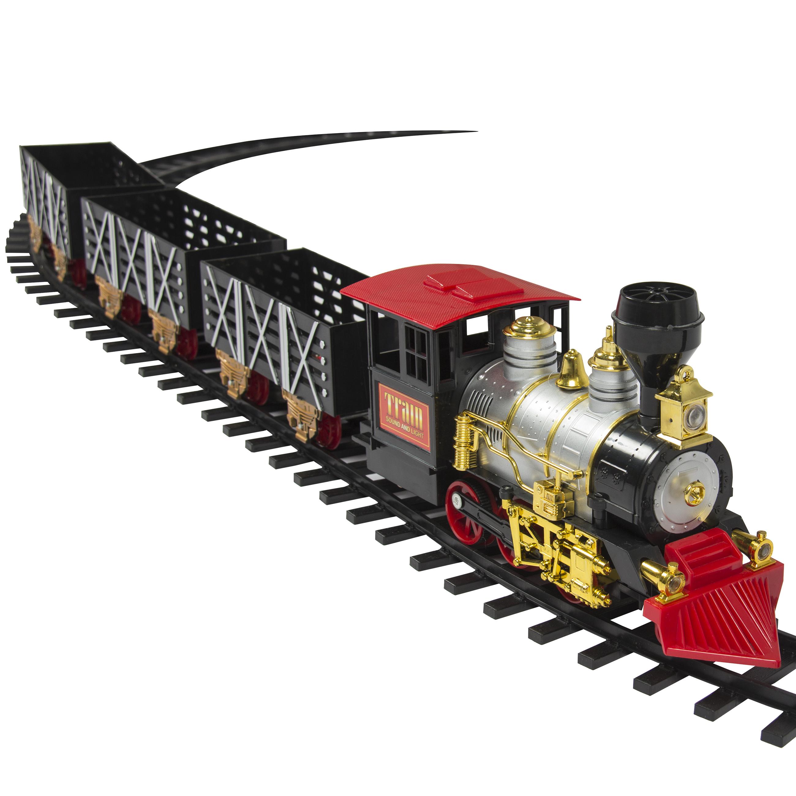Classic Train Set Kids W/ Real Smoke, Music, Lights ...