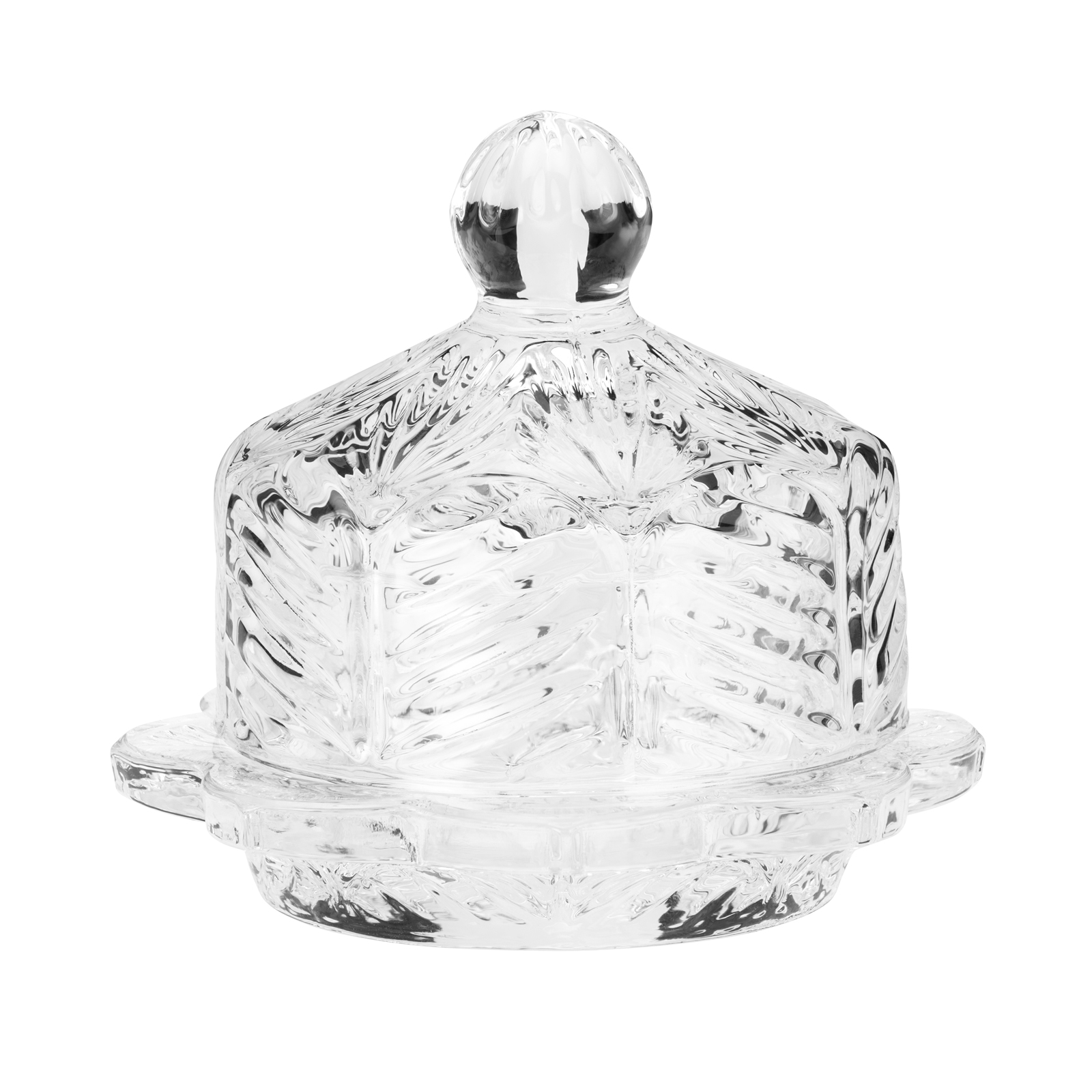 Eloise Floral Round Butter Dish, 3.5 inch length