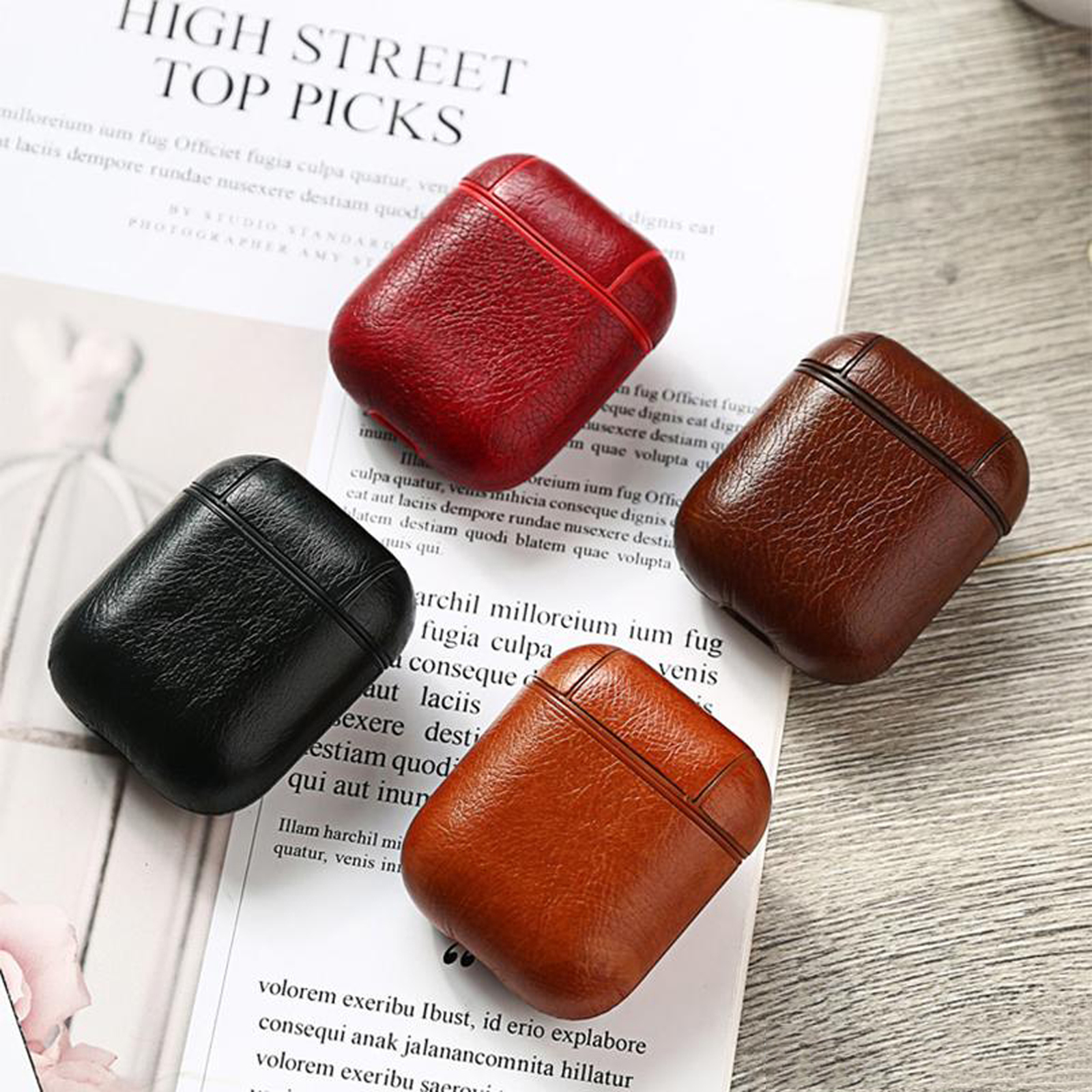 New-Leather-Soft-Skin-Case-For-Apple-Airpods-1-2-1st-2nd-Gen-Earphones-PU-Cover thumbnail 22