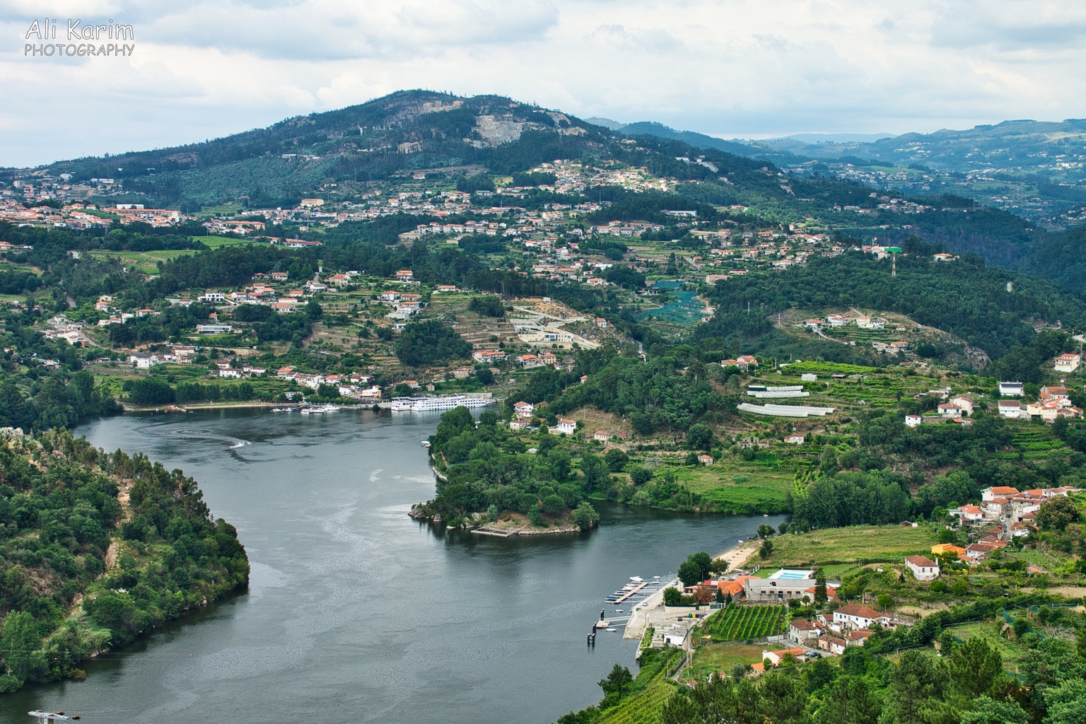 Porto Wine growing region of Duoro river valley