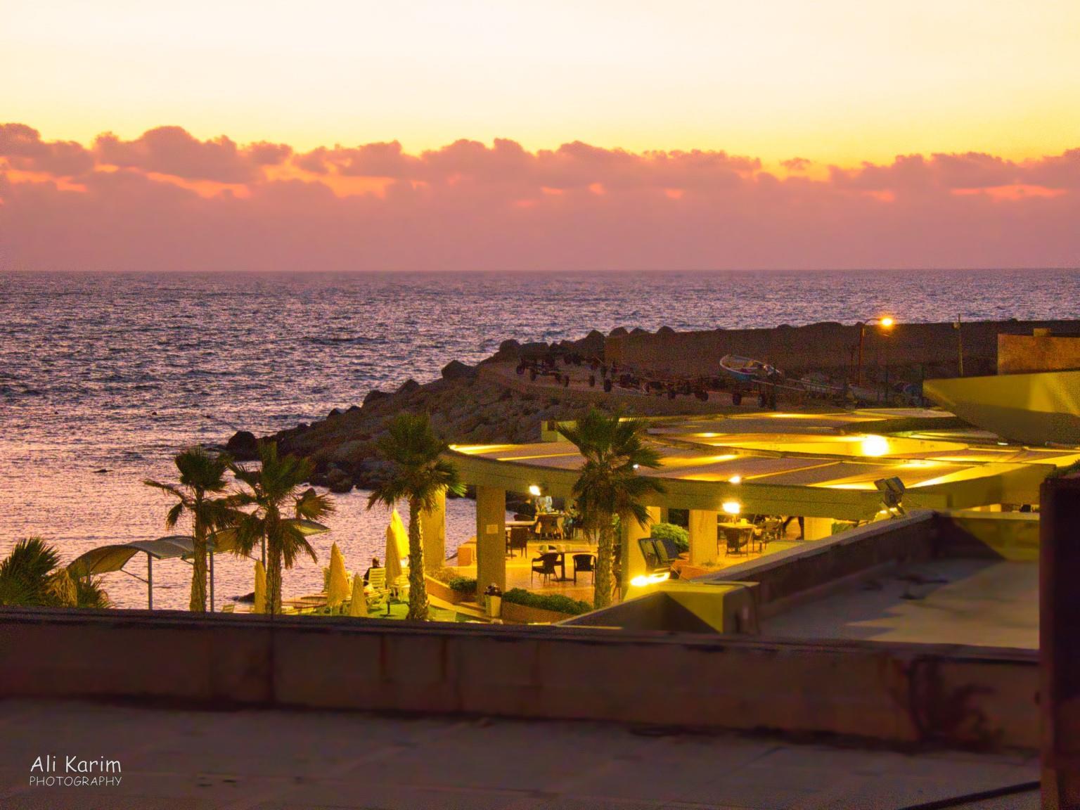 Beautiful evening on the corniche