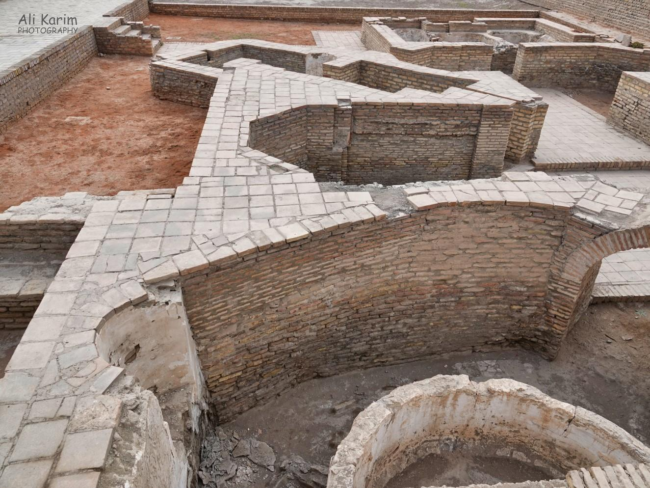 Bukhara, Oct 2019, Remains of bath houses and caranvarasai that were excavated in the old town center