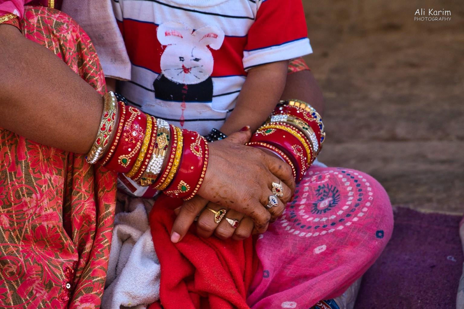 Jodhpur, Rajasthan Traditional jewelry, rings, and fading henna