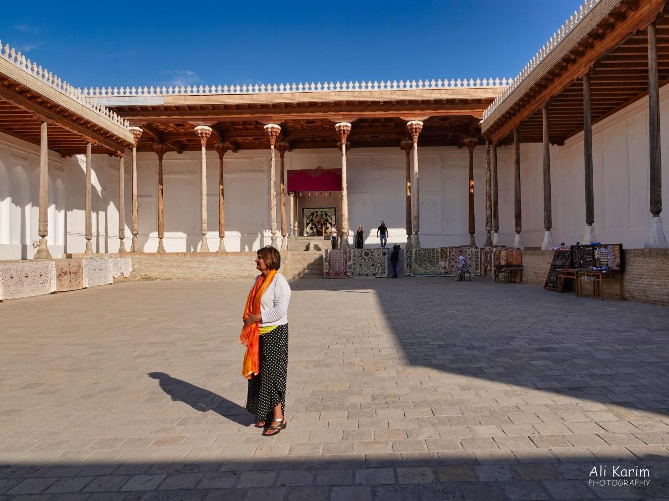 Bukhara, Oct 2019, Courtyard where the Emir's used to hold audience with his viziers and his subjects