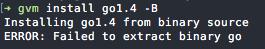 Installing Go v1.4 - Failed