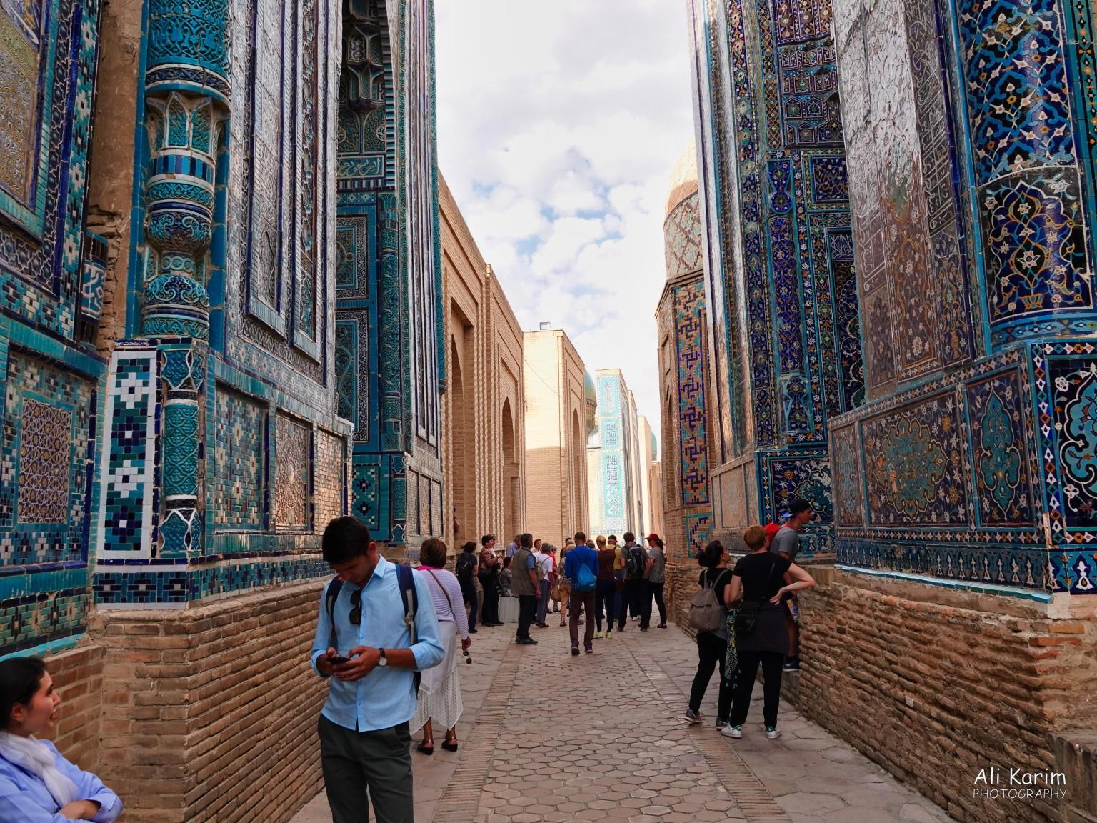 More Samarkand, The multiple structures on either side (mausoleums) housed the remains of the nobles from 11th century on