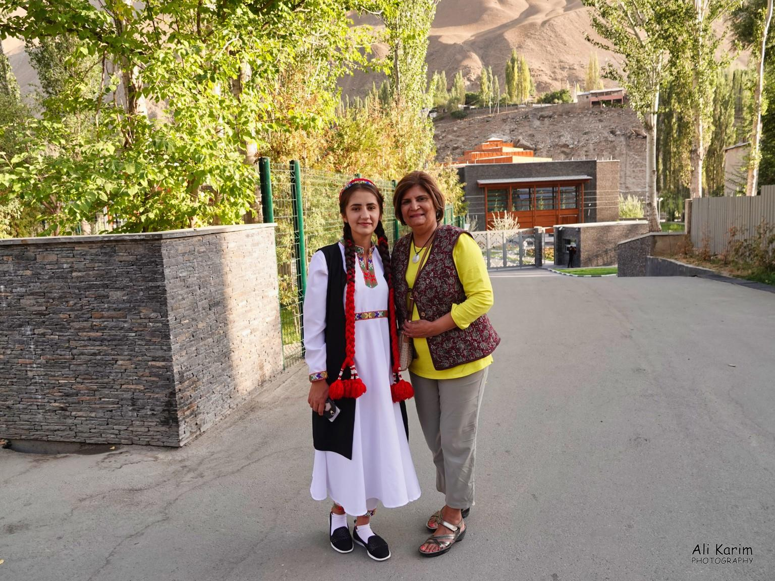 More Khorog, Tajikistan With young Pamiri outside the Ismaili Center