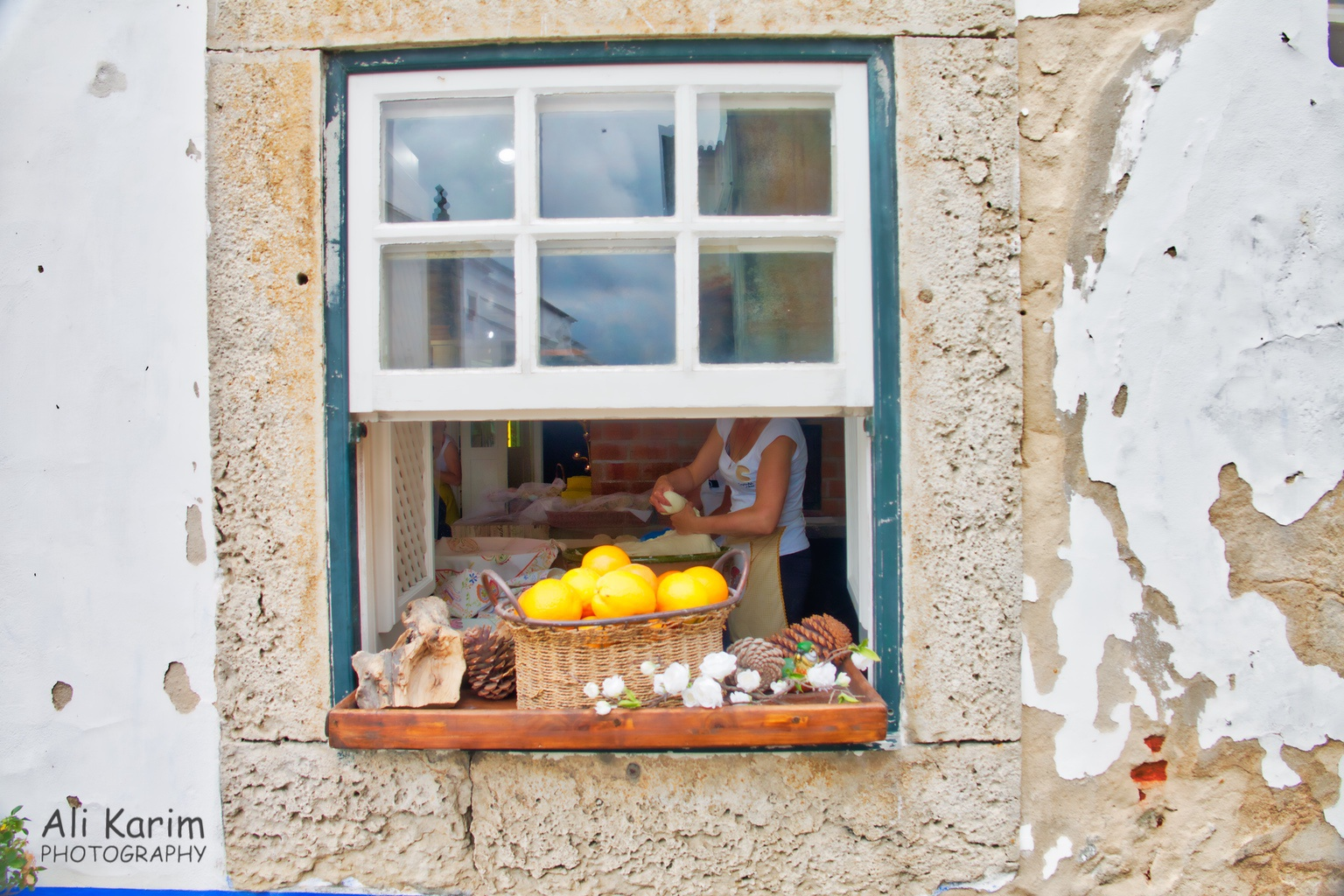 West of Lisbon Coffee and fresh bakes snacks in this café's kitchen