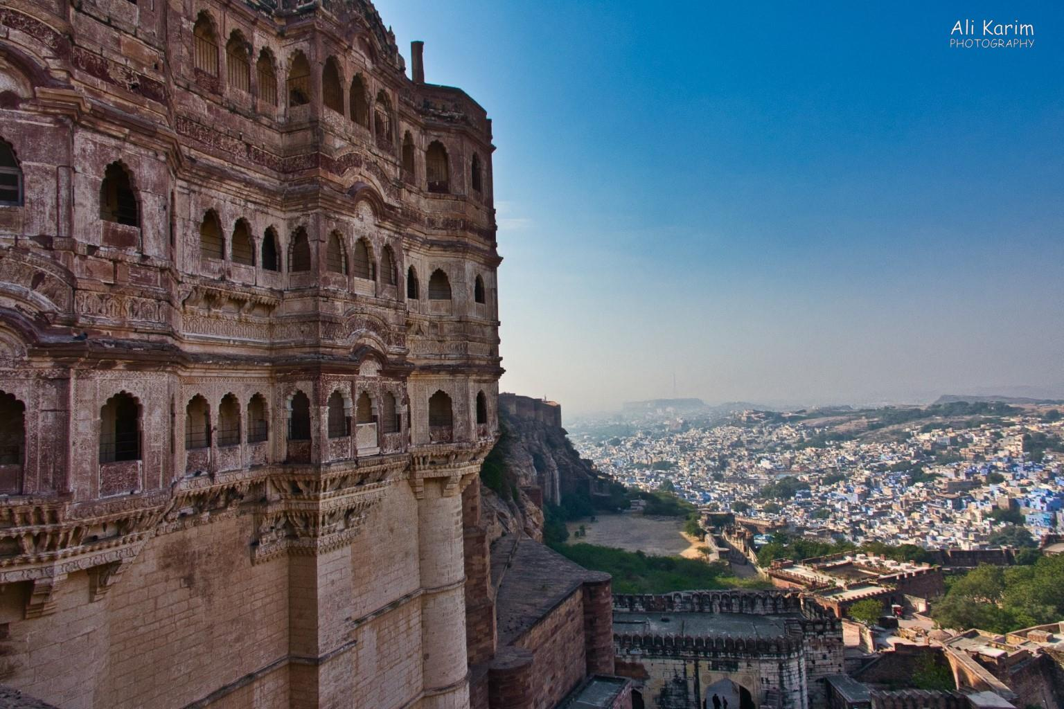 Jodhpur, Rajasthan One part of the huge Meharanghar fort/palace; towering over the old blue city of Jodhpur