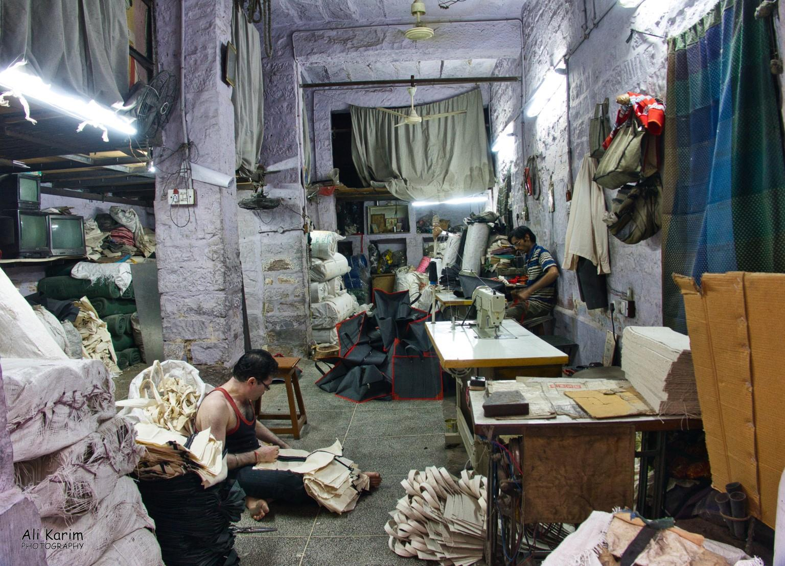 Jodhpur, Rajasthan Cloth bag workshop in the old city