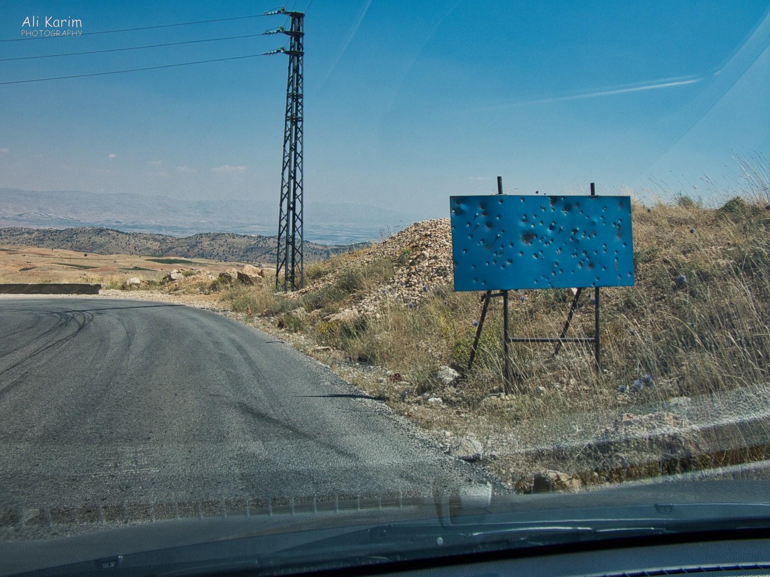 Bsharri and Quadisha Valley Interesting roadside sign