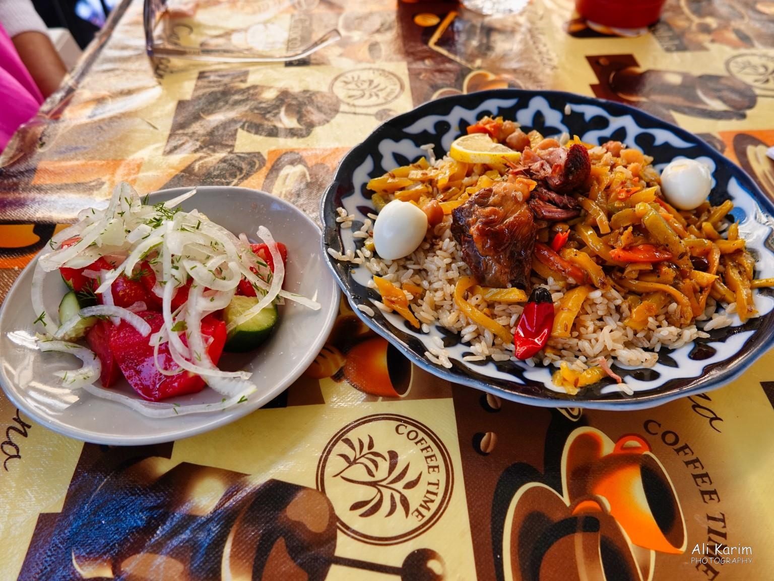 More Samarkand, Delicious Plov and accompaniments with chai of course :)