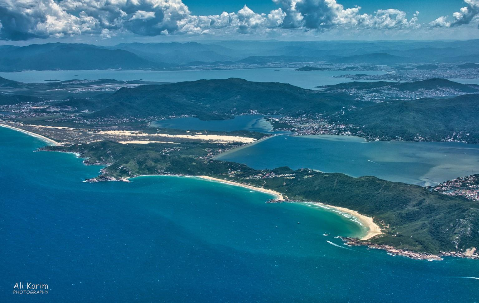 Florianópolis, Brazil Floripa on Santa Caterina island; note the beaches and the interior salt water lagoon
