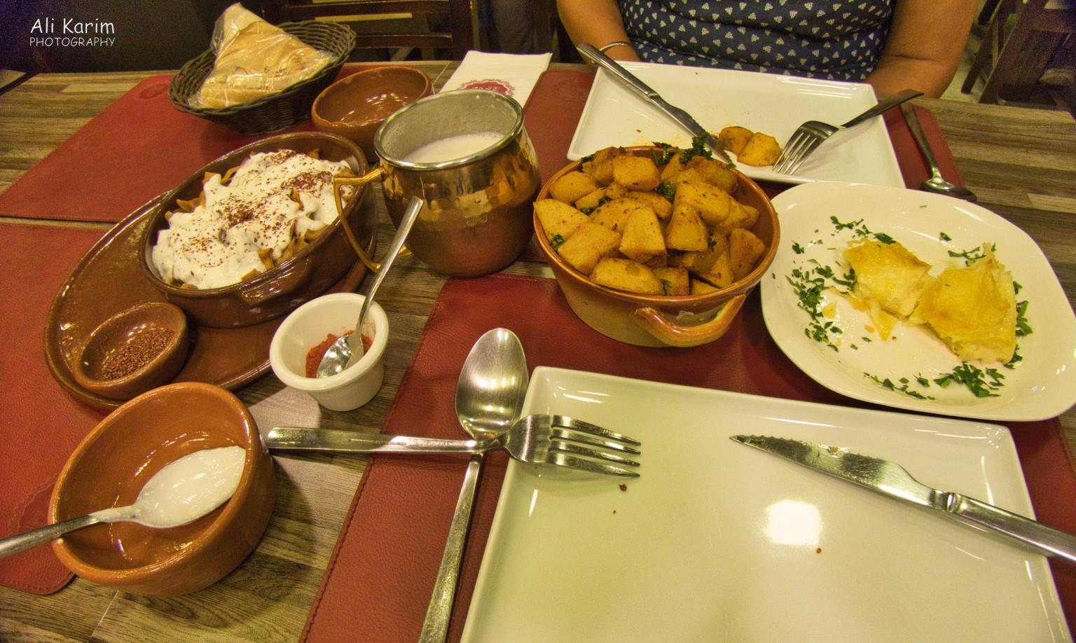 Beirut Armenian dinner of Subeurek (right) and Manti (left) and potatoes of course :)