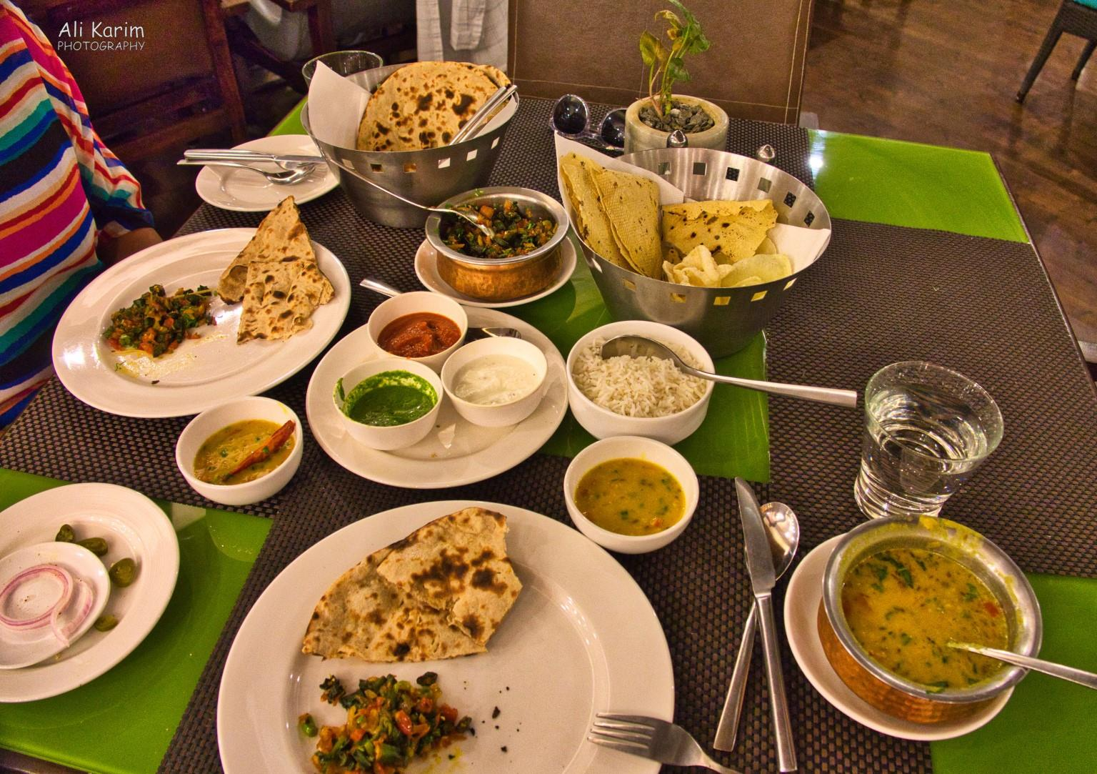 Pushkar, Rajasthan Vegetarian dinner at the Westin, Rajasthani dishes