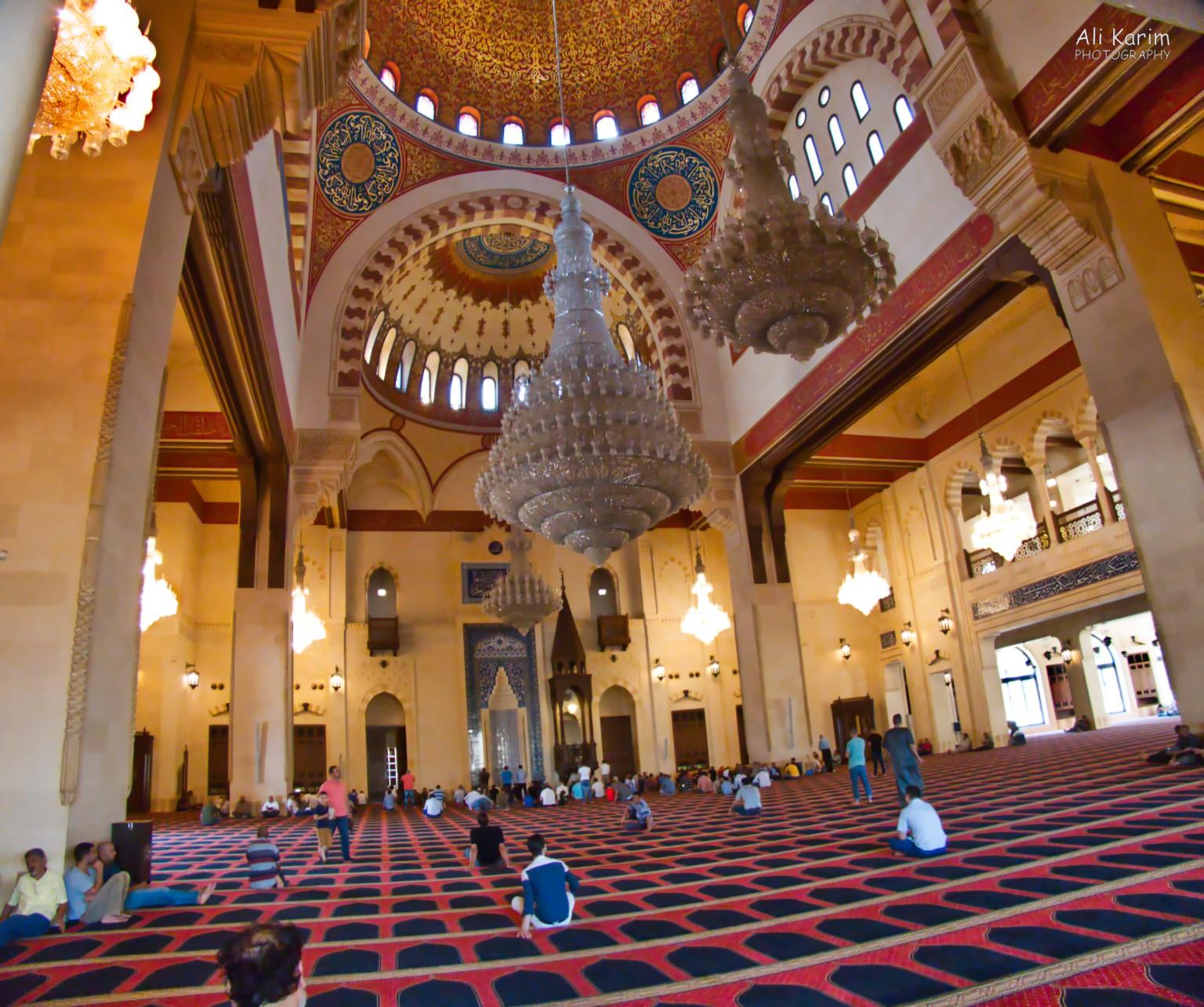 Beirut Inside the Mohammed Al-Amin mosque, before afternoon prayers
