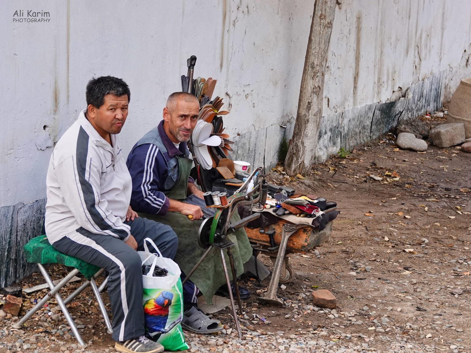 More Dushanbe, Tajikistan Small shoe repair business outside the Korvon market