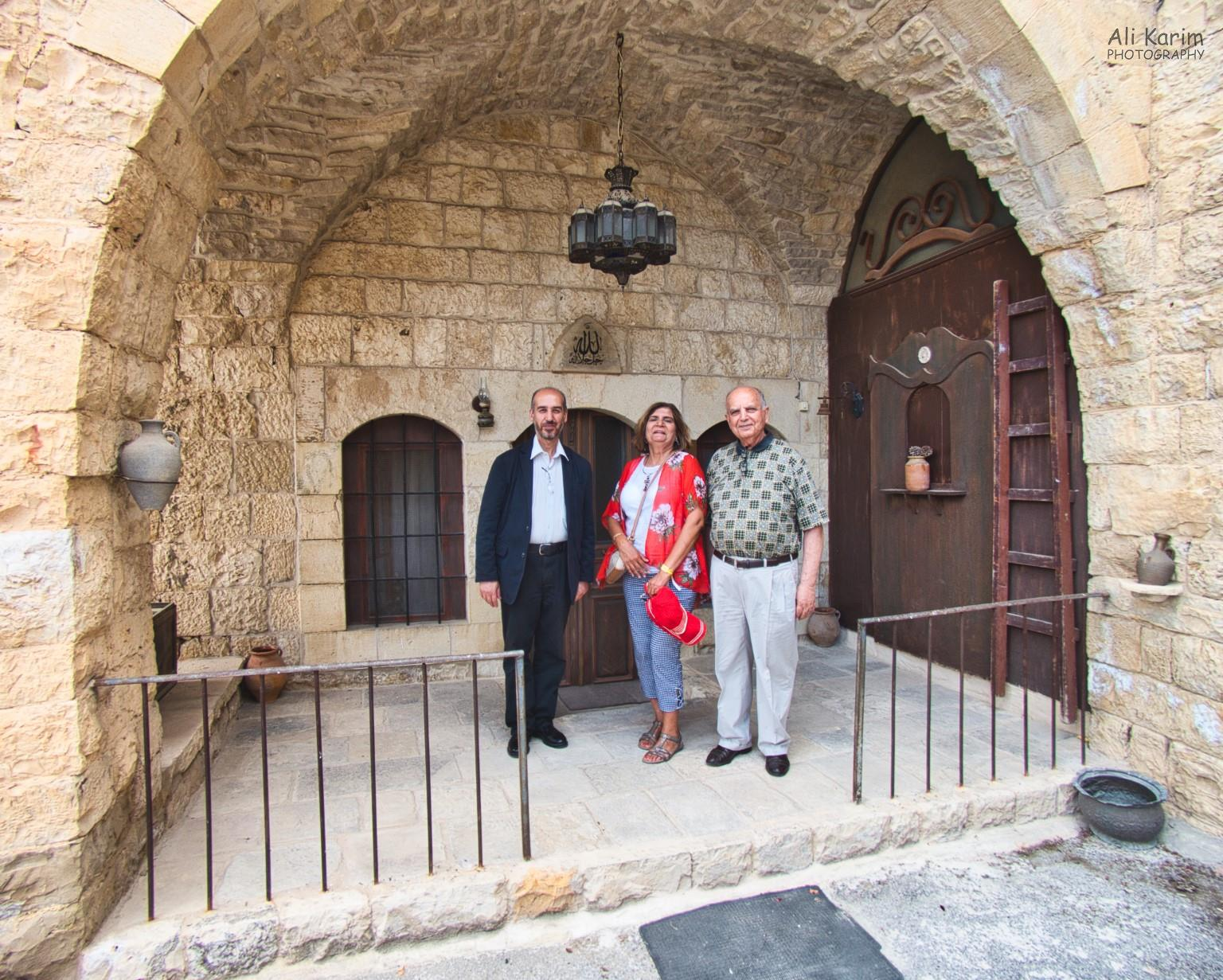 Druze and the Chouf Mountains Outside the Druze mosque, with Mr Hamada on the right and the caretaker on the left
