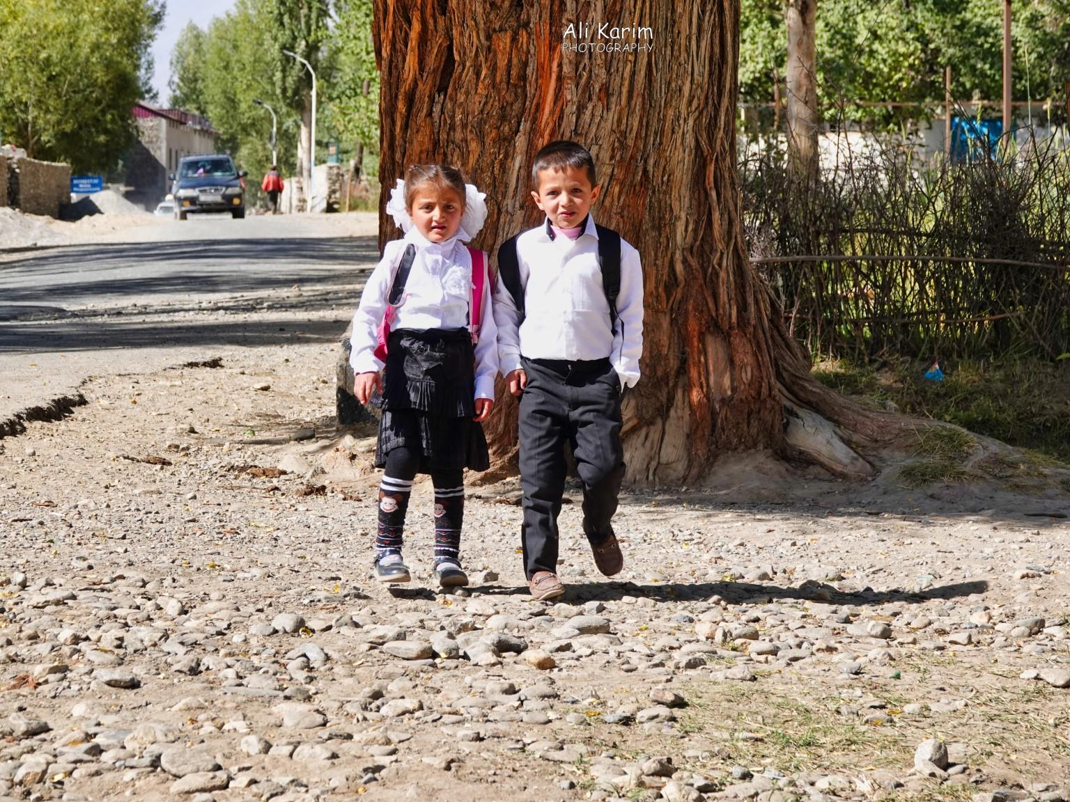 Langar, Bulunkul Tajikistan, Aziz and friend returning from School at Vrang