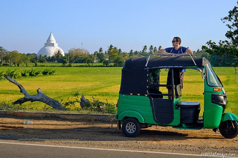 conducir tuk tuk en Sri Lanka