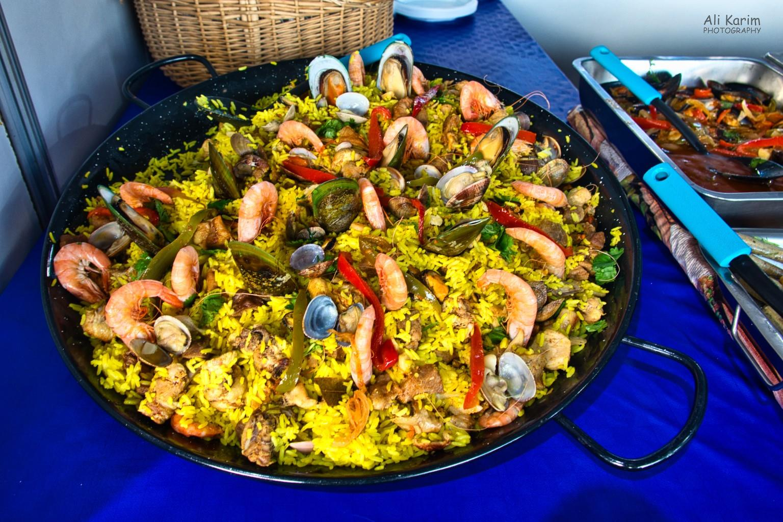 Algarve, Portugal Seafood Paella for sale in large quantities at the Festa da Rio Formosa, Faro