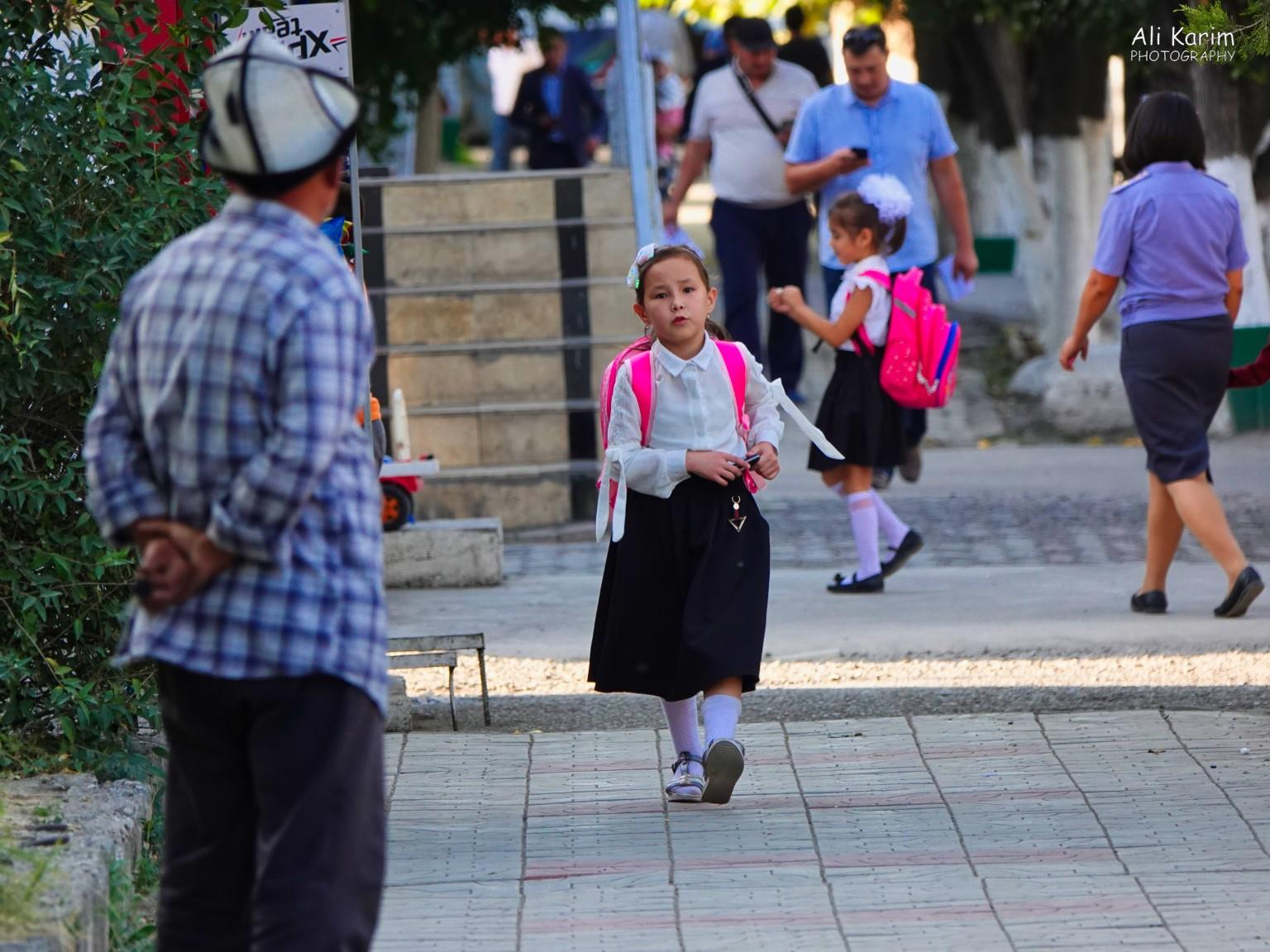 Silk Road 15: Osh, Kyrgyzstan School children walked to and from school or took the local mashrutka's (minivans that act as public transportation) quite freely on their own. Nice safe society