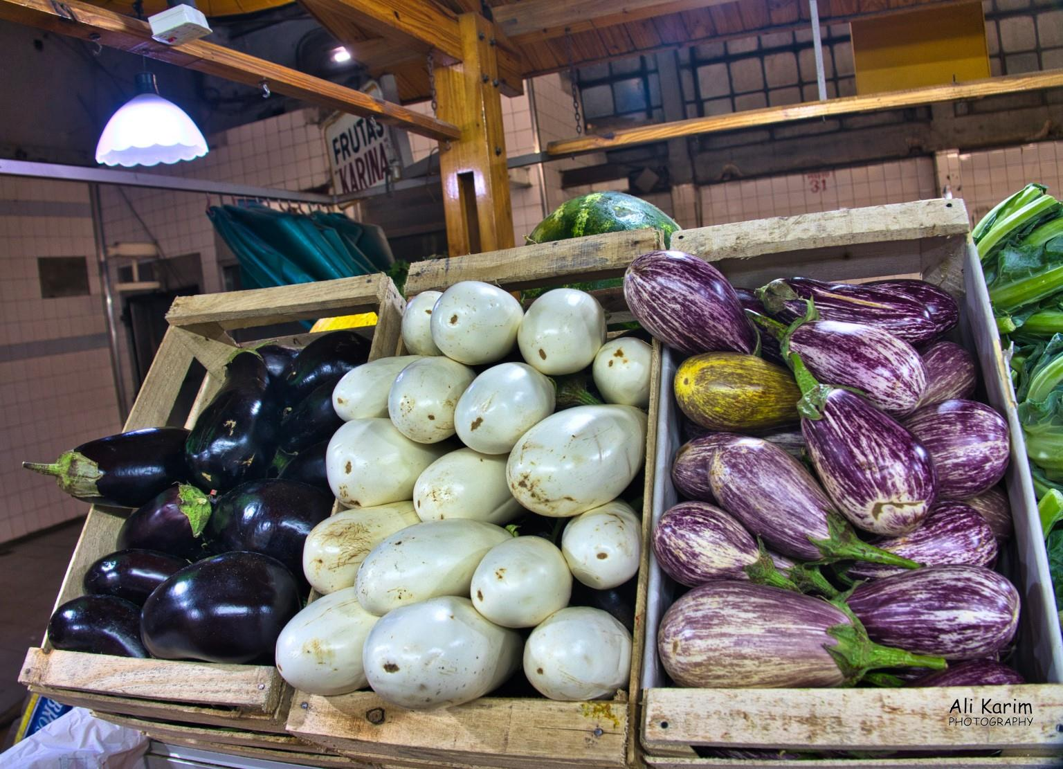 Mendoza, Argentina Different kinds of Eggplants we had not come across previously