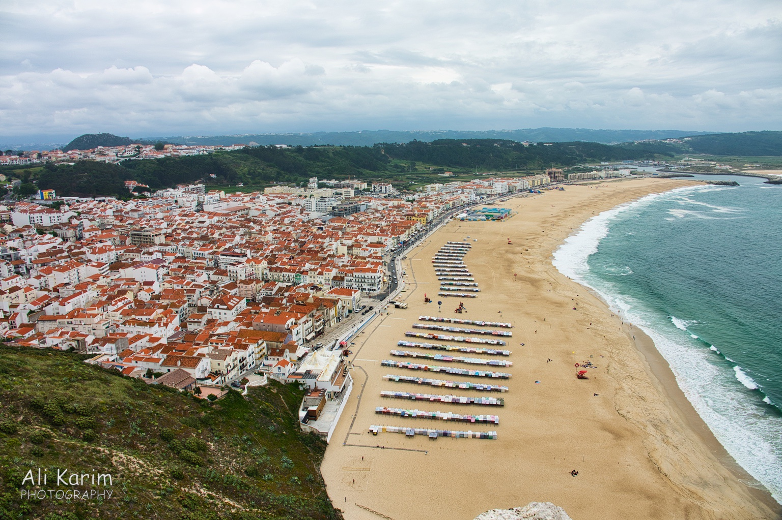 West of Lisbon View of Nazaré and its beach from Sítio