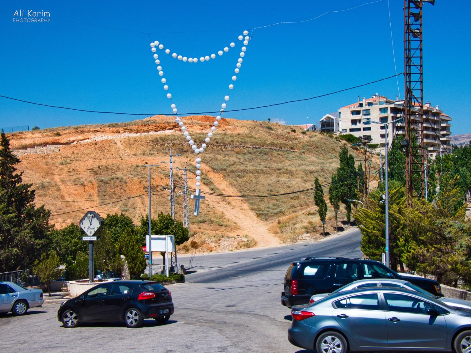 Bekaa Valley Winery, Chouf Mountains & the Druze Rosary at entrance to Our Lady of Zahle church
