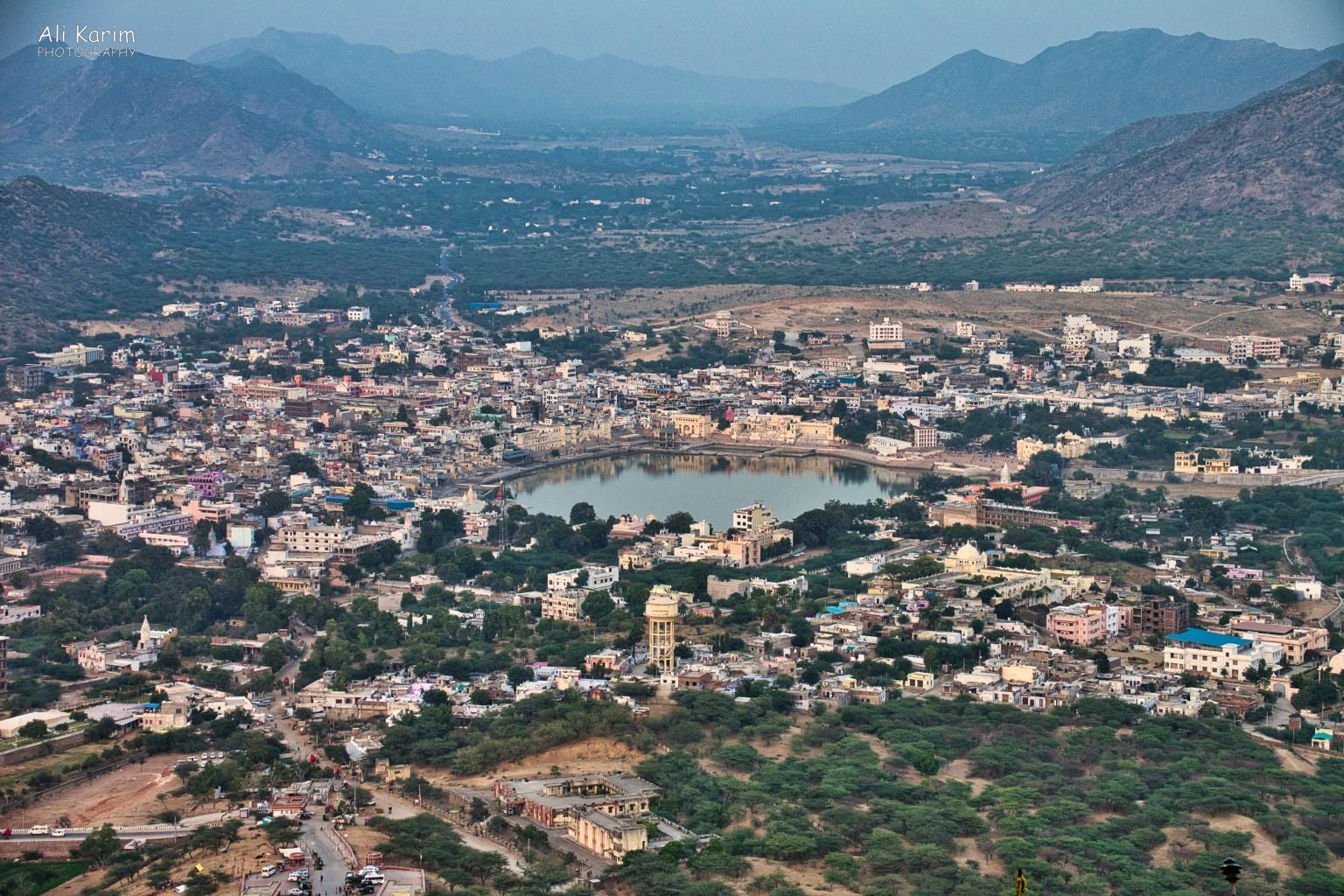Pushkar, Rajasthan Great view of Pushkar Lake and town, as well as the Aravalli hills