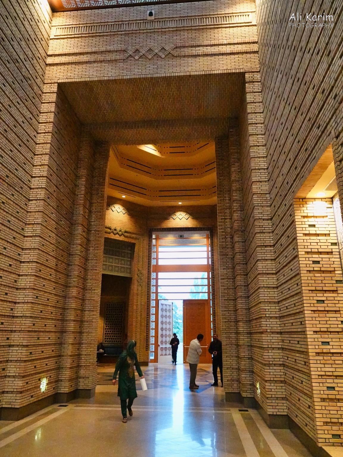 Dushanbe, Tajikistan Inside the imposing entryway; the bricks & design of insets were patterned after the Ismoil Somoni mausoleum in Bukhara, Uzbekistan
