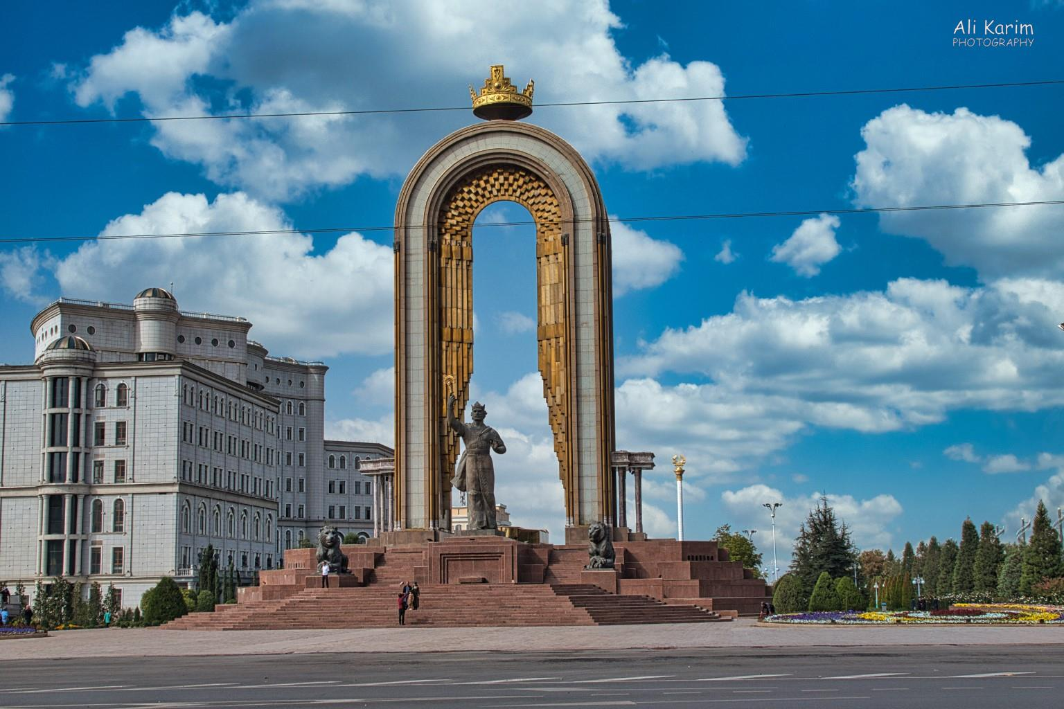 More Dushanbe, Tajikistan The mainstay was the majestic Ismoil Somoni statue and park