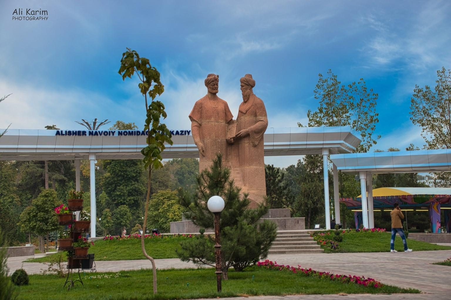 More Samarkand, Nice park with statues of learned men