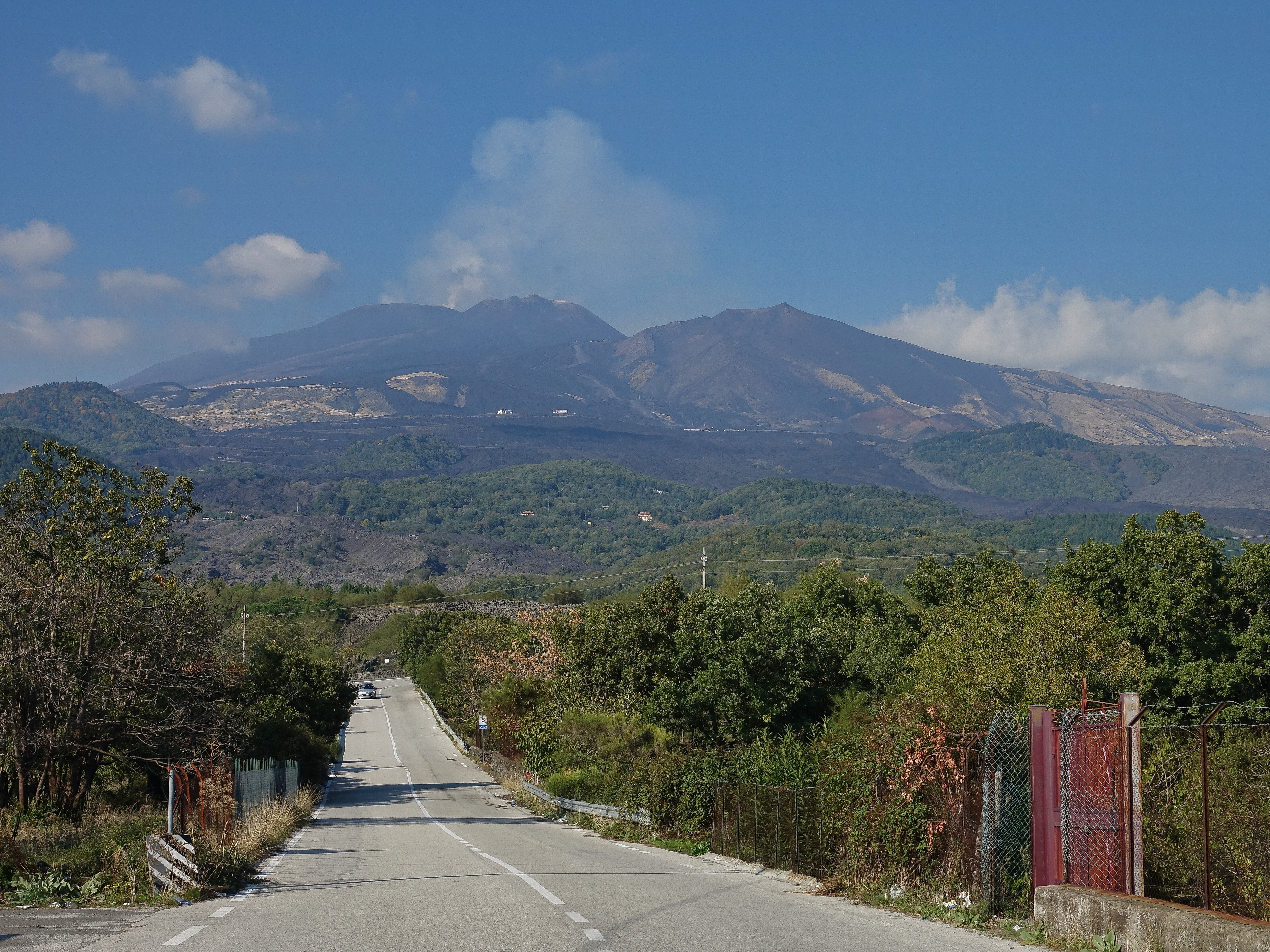 Mt Etna, spewing away from one of its cones