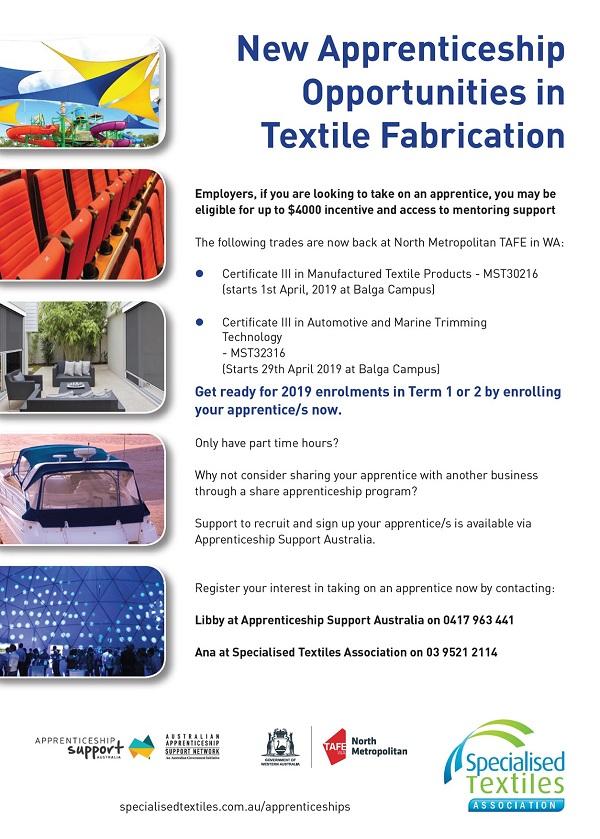 Textile Fabrication Apprentices