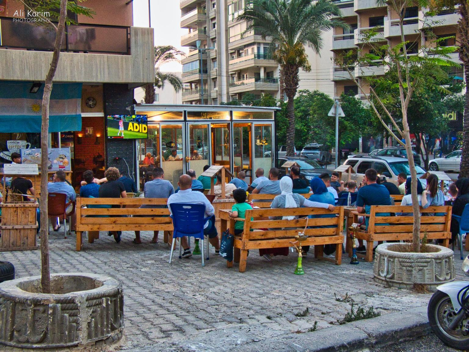 Beirut to Tripoli Screens outside restaurants where patrons could watch world cup soccer