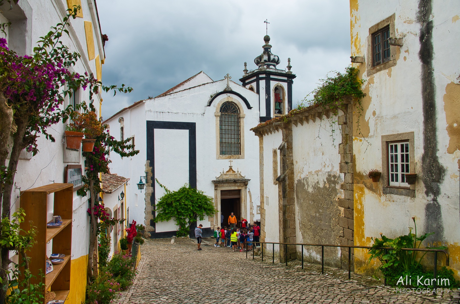 West of Lisbon Obidos church and school tour group