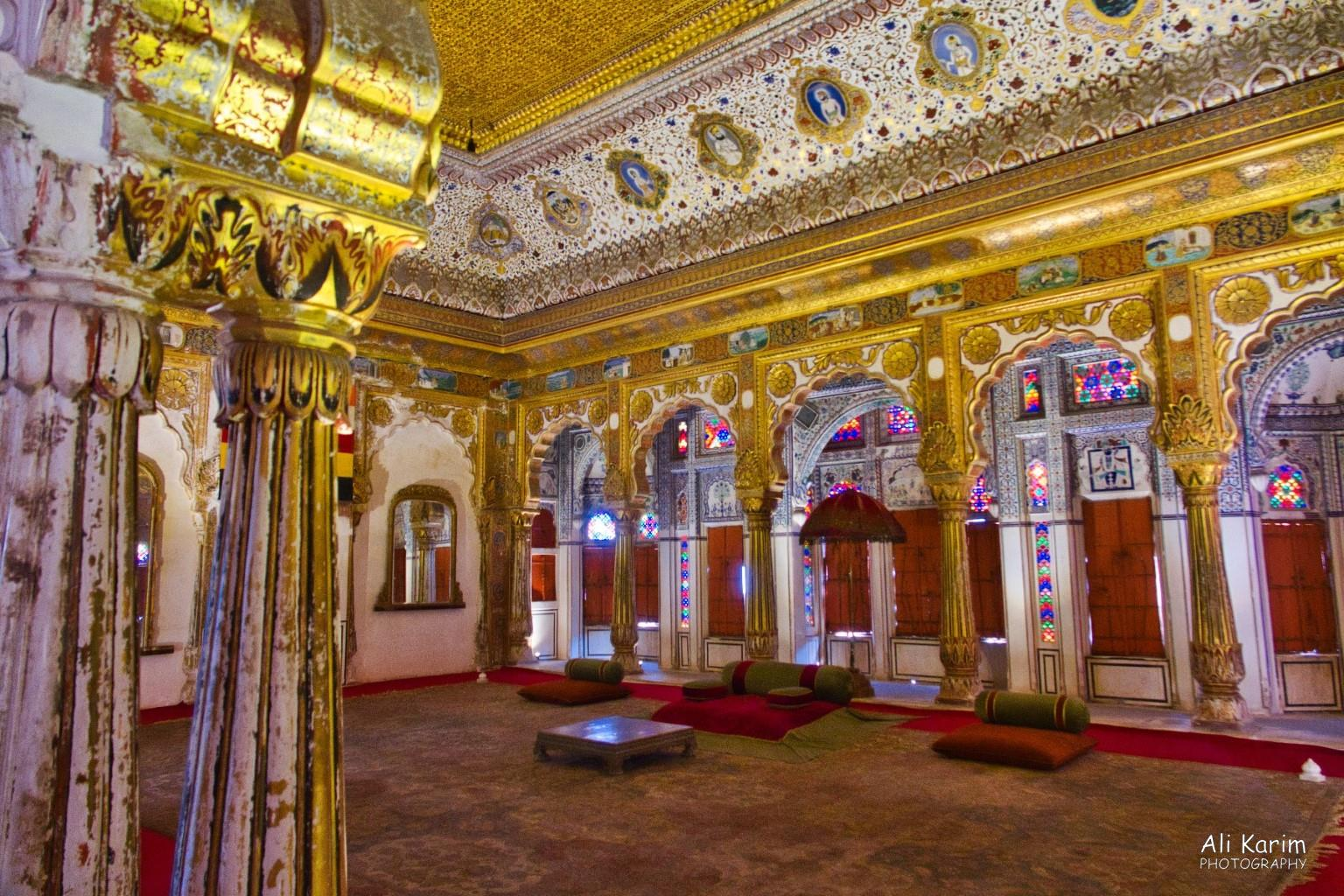 Jodhpur, Rajasthan One splendid darbar (meeting) room of the Maharaja