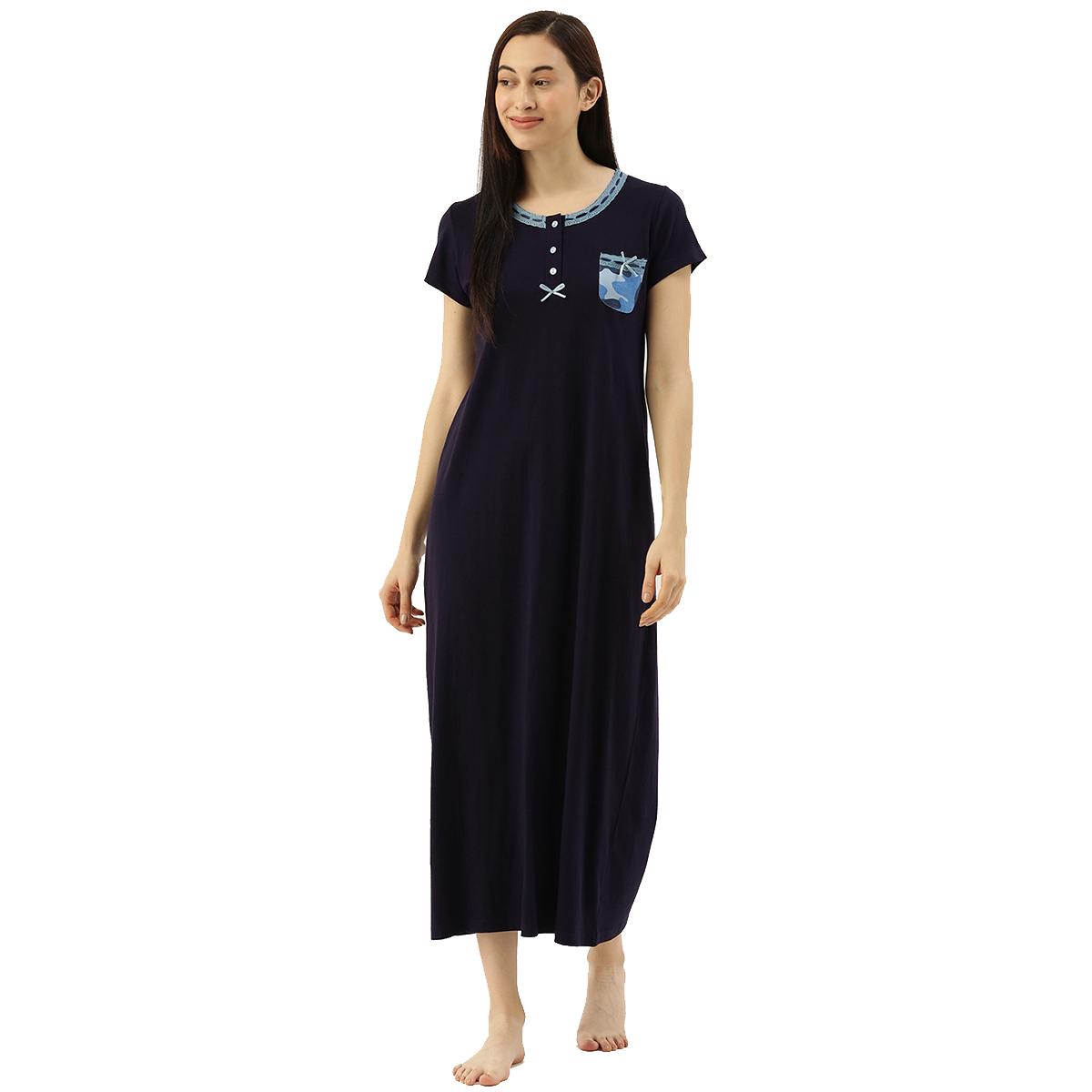 Slumber Jill Blue Camo Pocket Night Dress