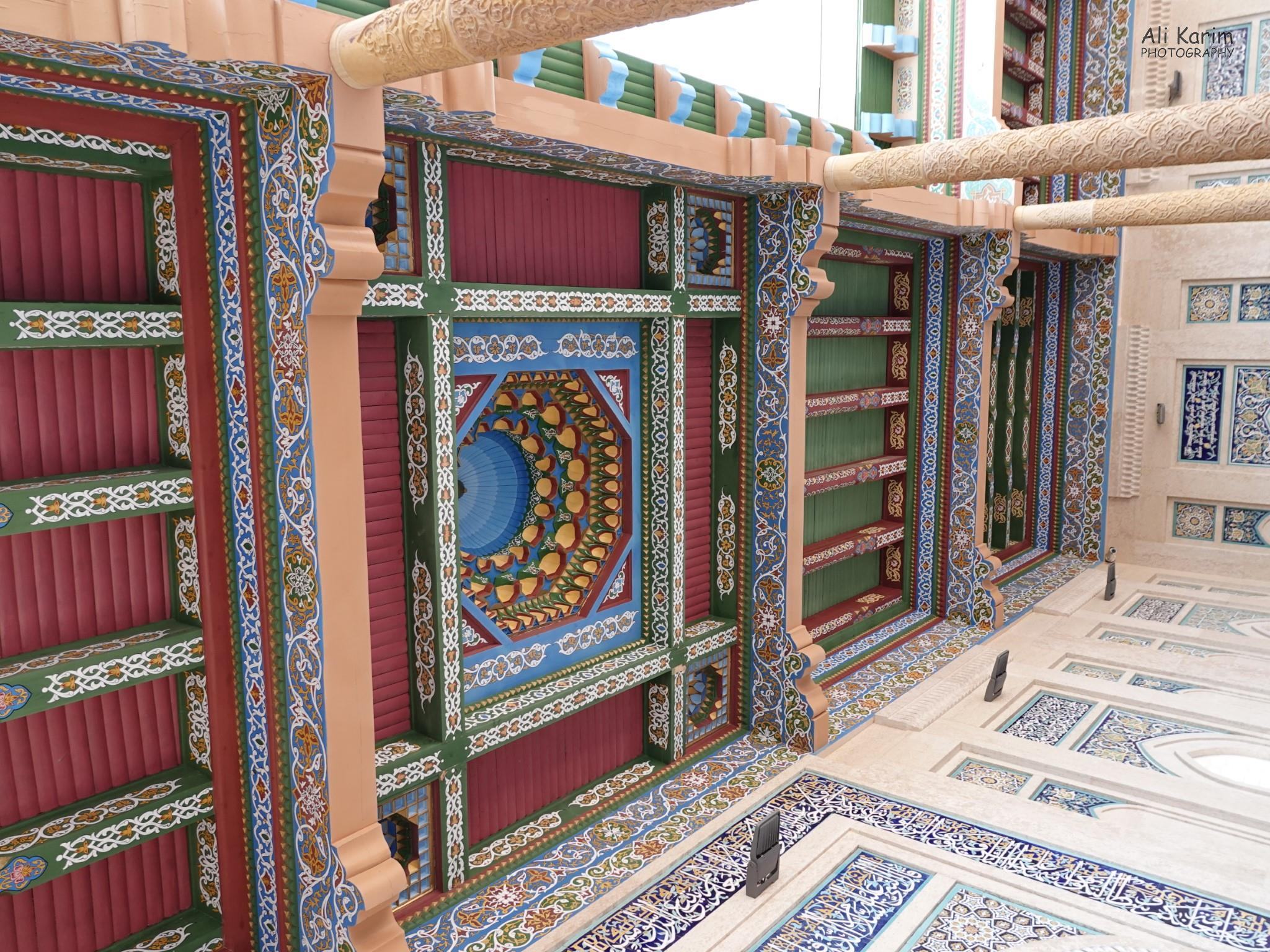 More Samarkand, Intricate wall and ceiling work in area around the Islom Karimov mausoleum