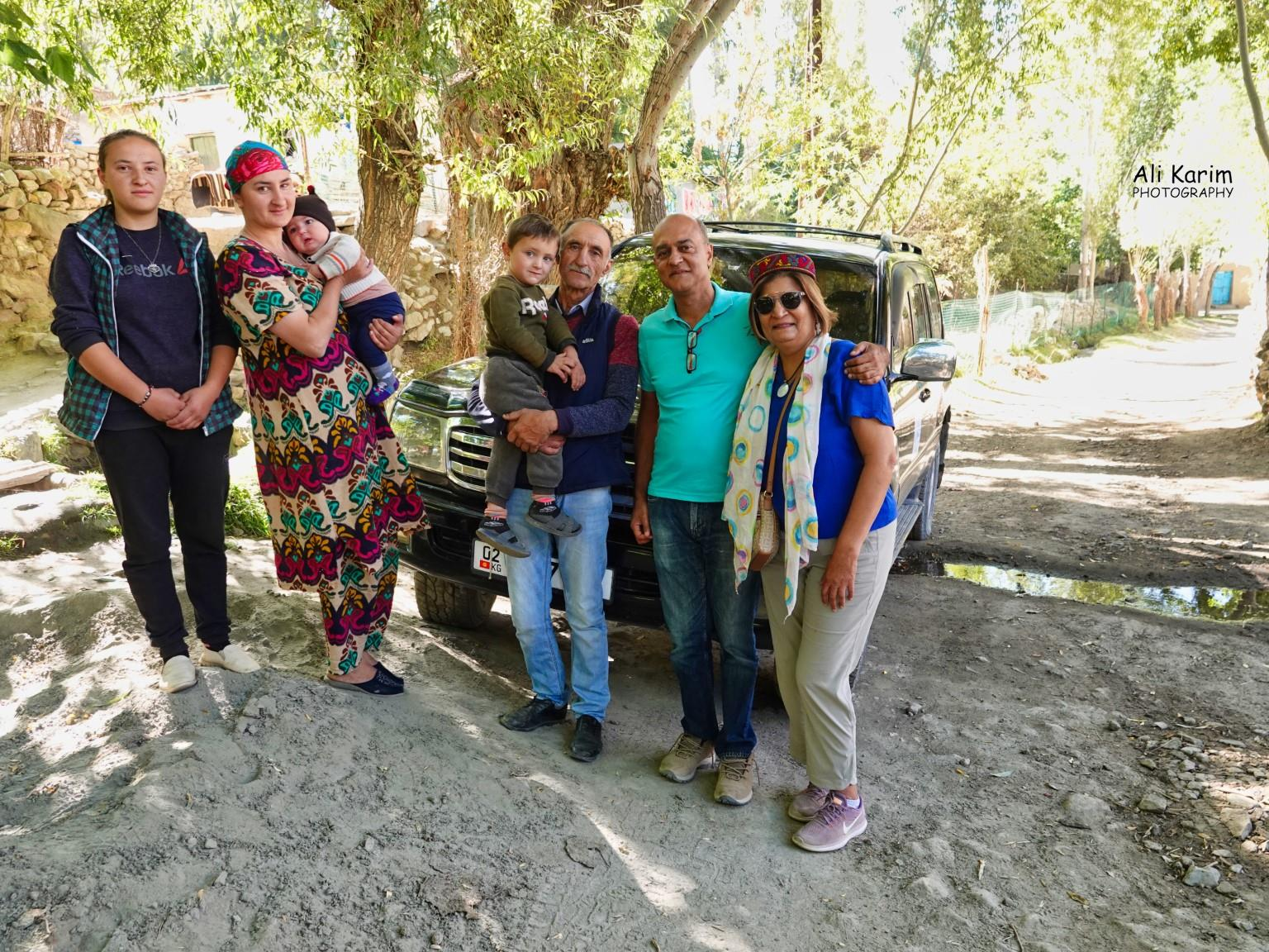 Onto Khorog, Tajikistan, With Kurbanali, his older grandson Alidod, Sabzali and his mother, and Kurbanali's daughter (R-L)