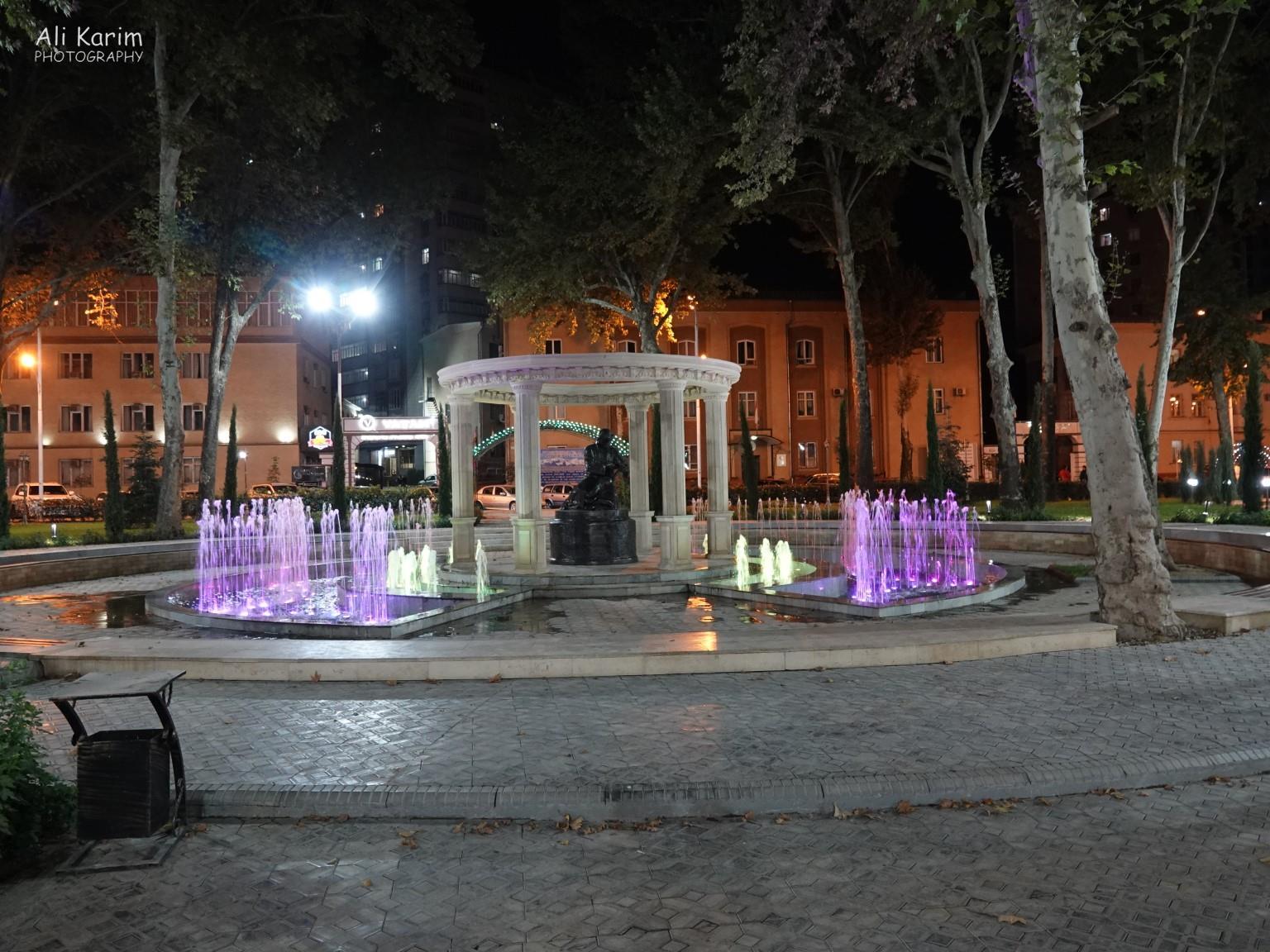 Dushanbe, Tajikistan Fountains inside a park