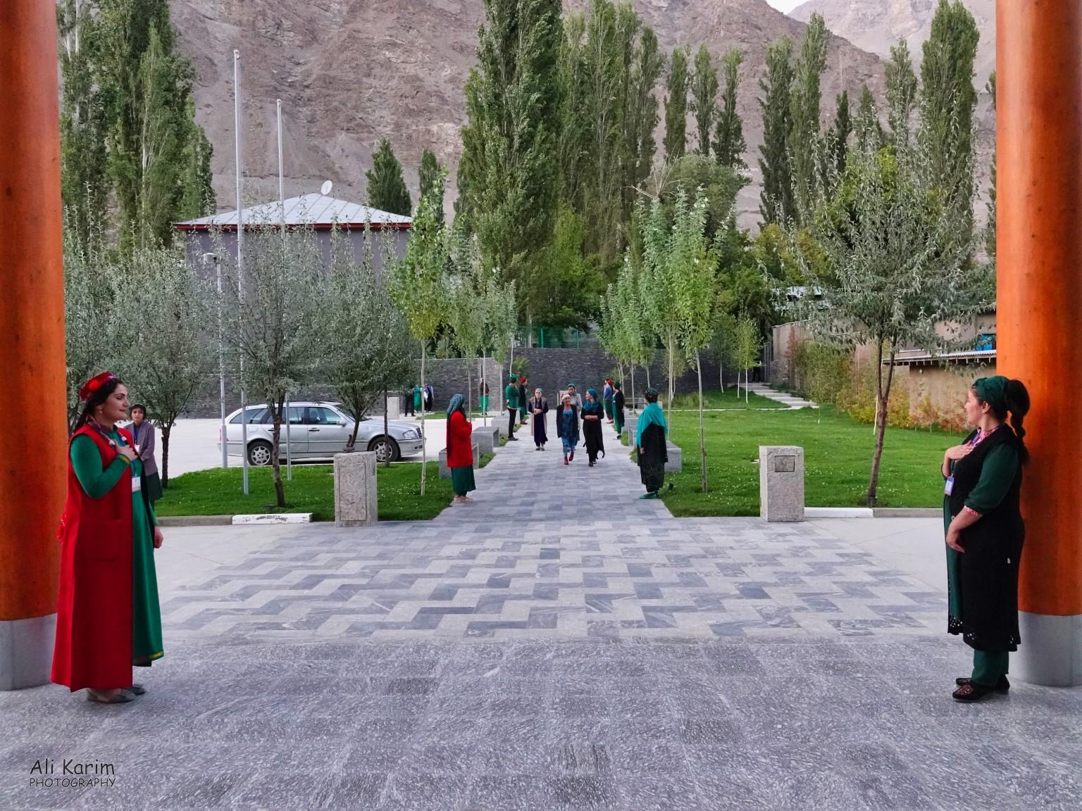 More Khorog, Tajikistan Entrance of the Ismaili Center building for evening prayers