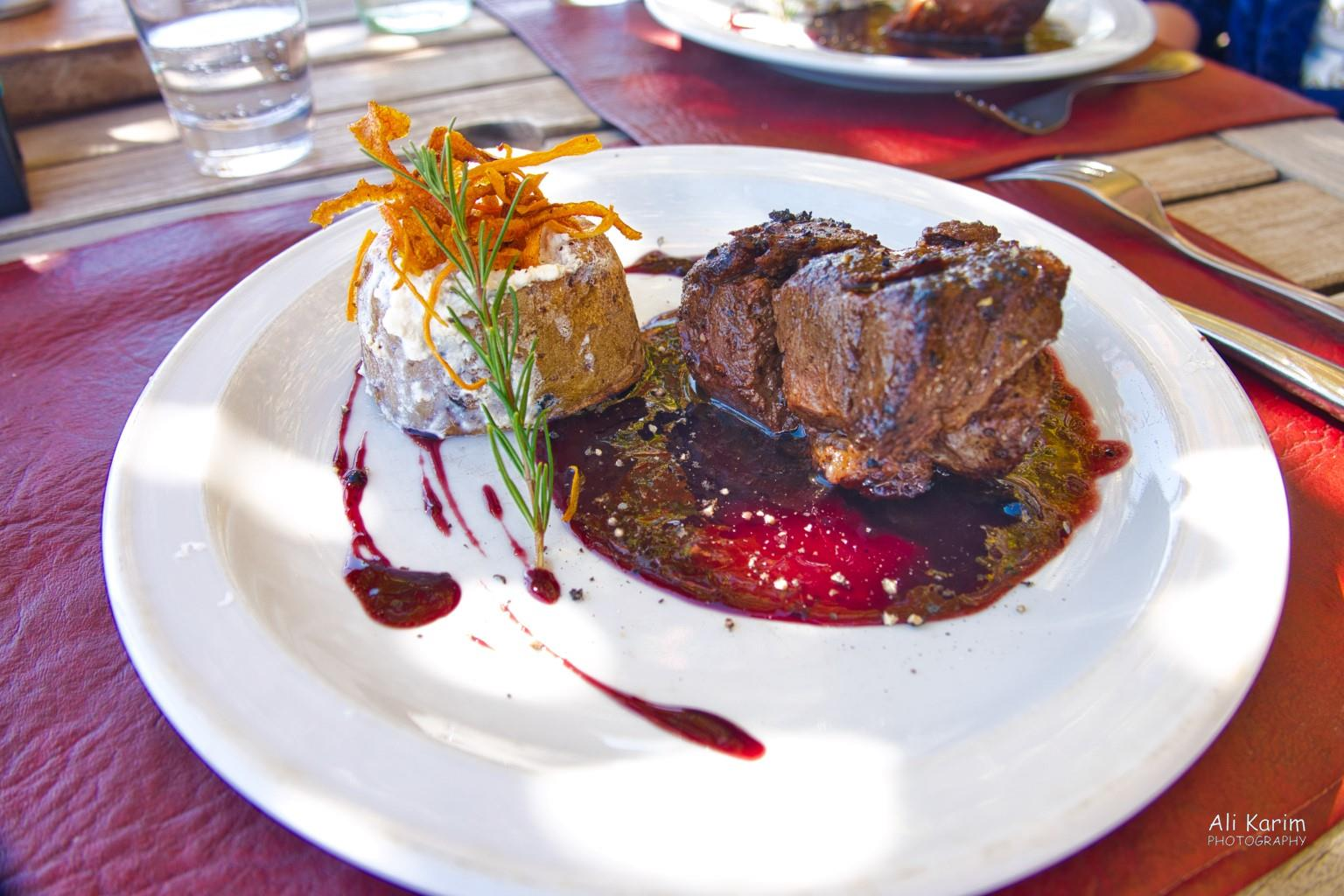 Mendoza, Argentina Thick steaks cooked to perfection; people are proud of their food here; amazing presentation