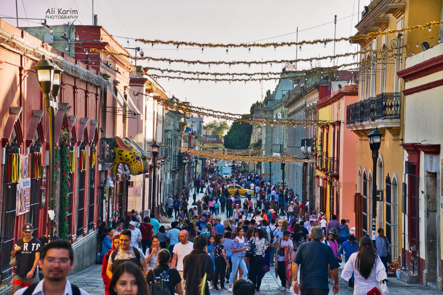 Oaxaca, Mexico Nice wide pedestrian streets to the Zocalo